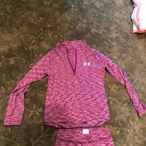 Under armor girl top and bottom size 6X